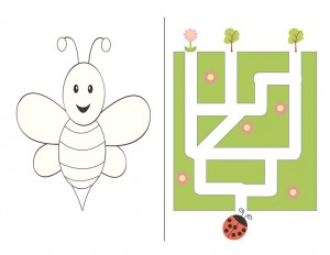bee coloring paes