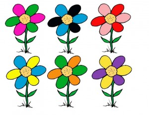 bee flower color matching