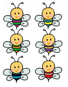 bee flower color matching printables