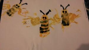 bee foot print my girl
