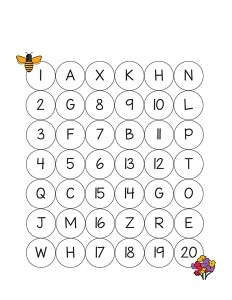 bee worksheets count