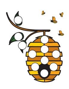 bee worksheets honey