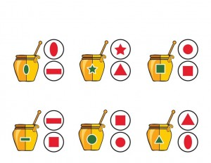 bee worksheets shapes activities