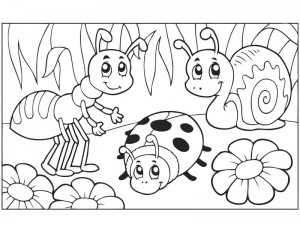 Bugs Coloring Pages funnycrafts