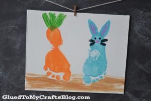 bunny carrot canvas