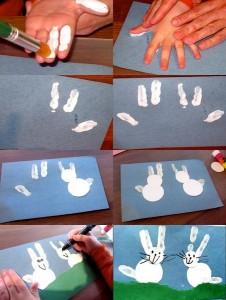 bunny crafts fingerprints