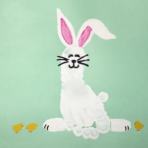 bunny crafts footprint