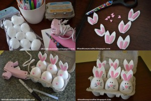 bunny crafts from egg
