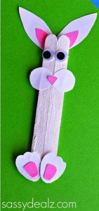 bunny crafts popsicle