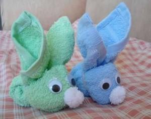 bunny crafts towel