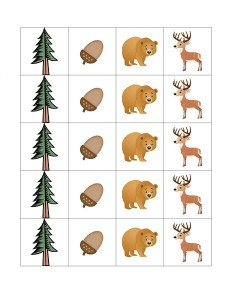 cards forest animals
