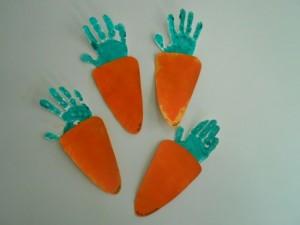 carrot handprint activity