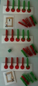 clothespin pattern activities