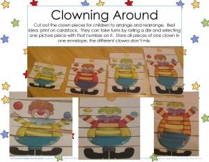 clowning around puzzles for kıds (2)