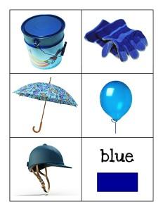 color cards blue