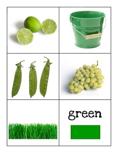 color cards green