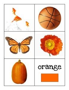 color cards orange