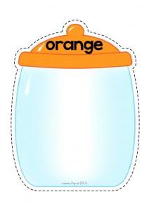color cut and paste activities orange