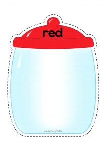 color cut and paste activities red