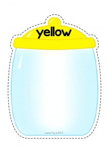 color cut and paste activities yellow