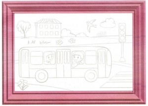 color painting bus