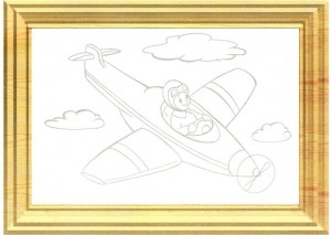 color painting plane