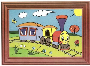 color painting train