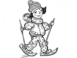 coloring pages winter fine motor
