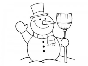 coloring pages winter for kıds