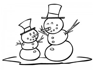 coloring pages winter for preschool