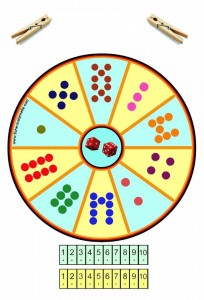 cool clothespin number wheels