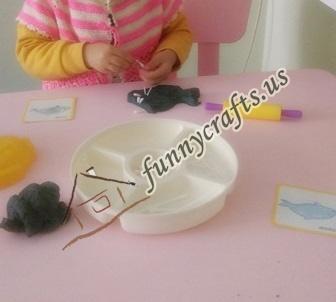 create x trays with play dough (1)