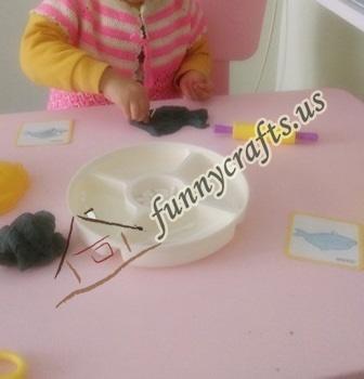 create x trays with play dough (2)