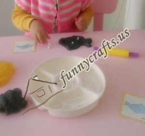 create x trays with play dough (3)