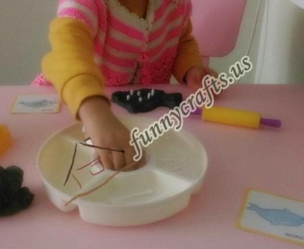 create x trays with play dough (4)