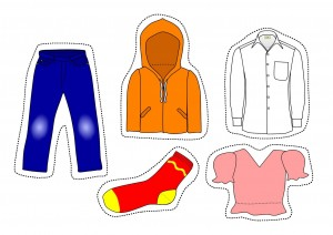 cutting worksheets clothes for kıds (2)