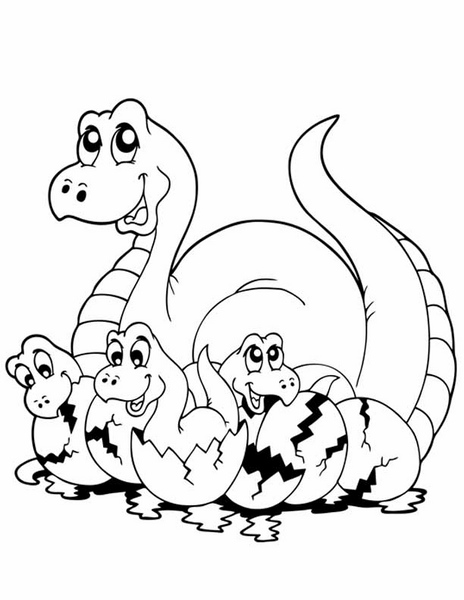 Dinosaur Coloring Pages Activities 24