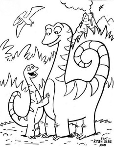 dinosaur coloring pages activities (33)