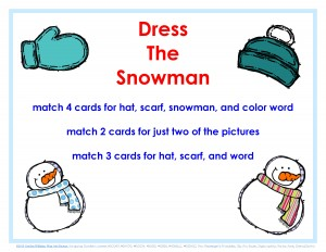 dress the snowman