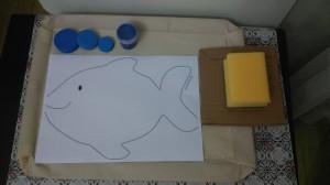 fısh sponge painting activity
