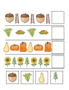 fall-autumn worksheets cut and paste