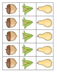 fall-autumn worksheets pattern activities