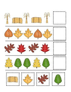 fall-autumn worksheets pattern for kıds
