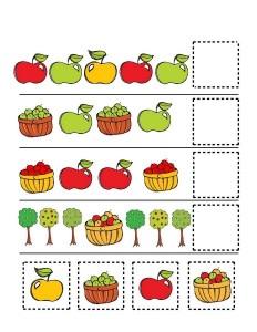 fall-autumn worksheets pattern forkıds