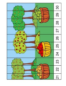 fall-autumn worksheets sequence puzzle