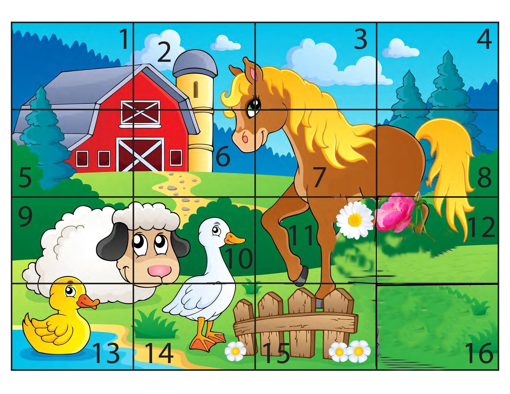 Farm Animal Puzzles on Animal Alphabet Do A Dot Printables