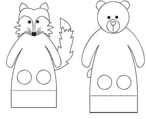 Finger puppet worksheets 2 preschool and homeschool for Paper finger puppets templates