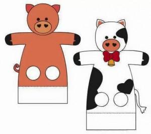 finger puppet worksheets animals