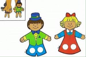 finger puppet worksheets boy and girl