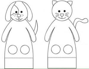 finger puppet worksheets cat